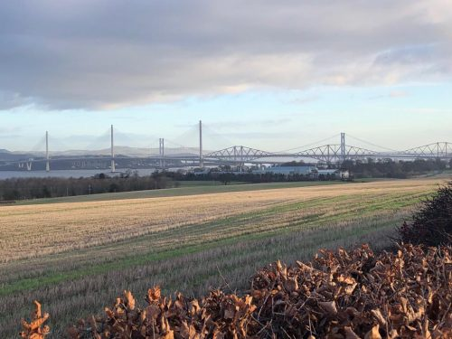 Road and Rail bridges across Forth