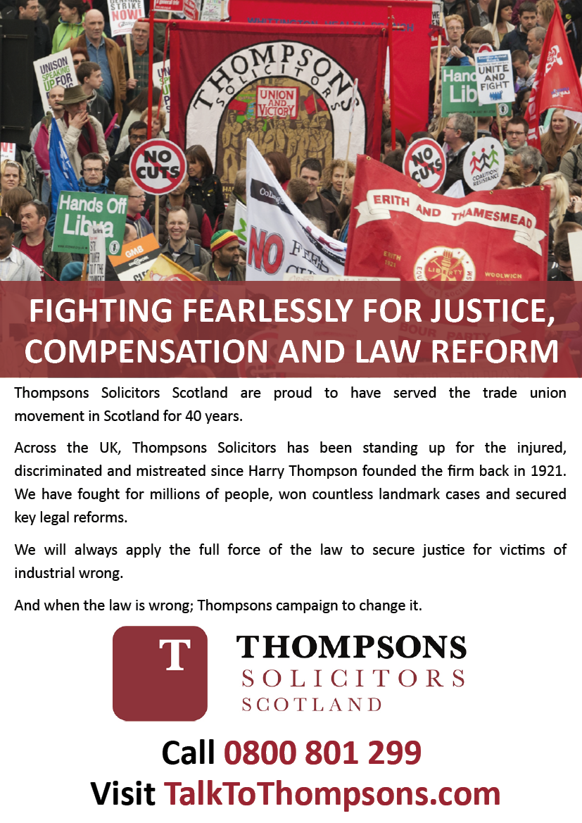Phot advert Thompsons Solicitors