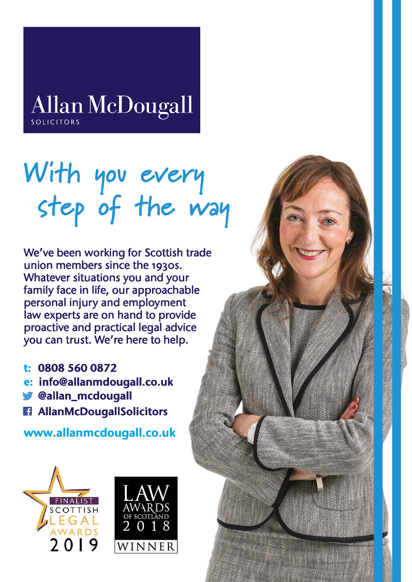 Advert for Allan McDougall Solicitors