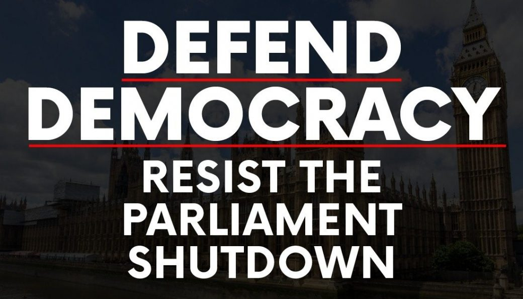 and resist the Parliament Shutdown