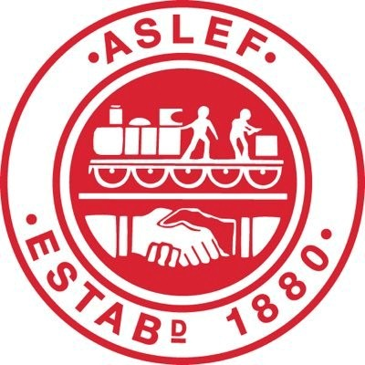 Logo for Britain's trade union for train drivers