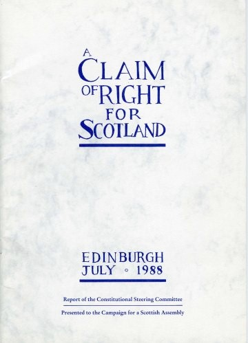 Claim of Right for Scotland