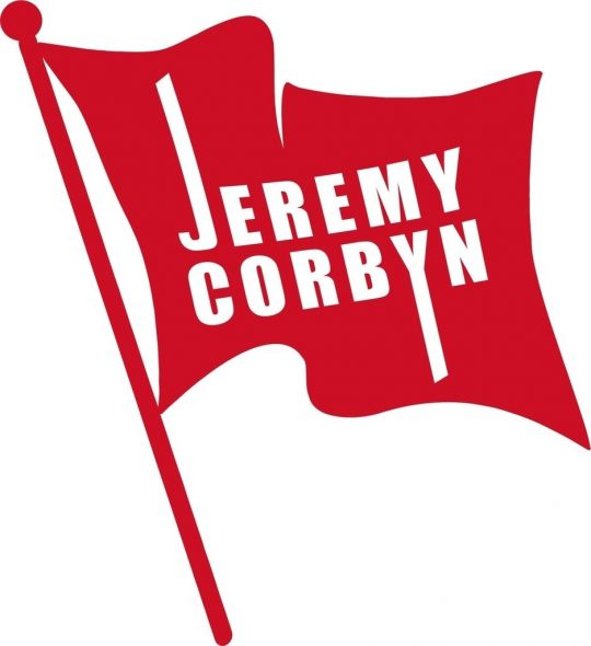 Flag supporting Jeremy Corbyn