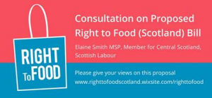 Advert for right to food consultation