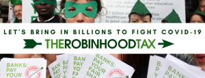 Advert for Robin Hood Tax