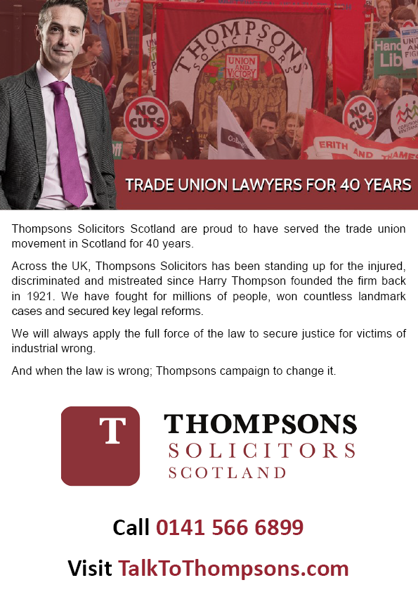 Advert Thompsons Solicitors