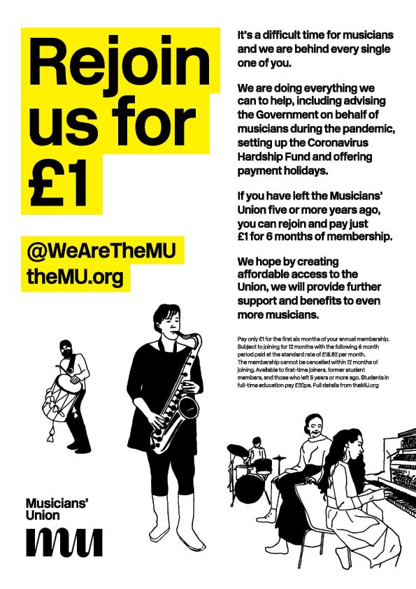Musicians Union Rejoin for £1