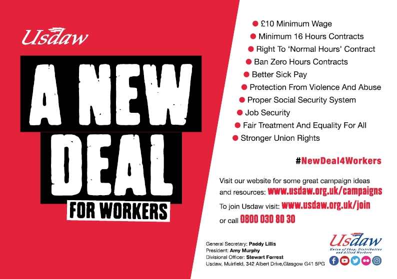 USDAW Advert