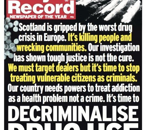 Front Page of Daily Record